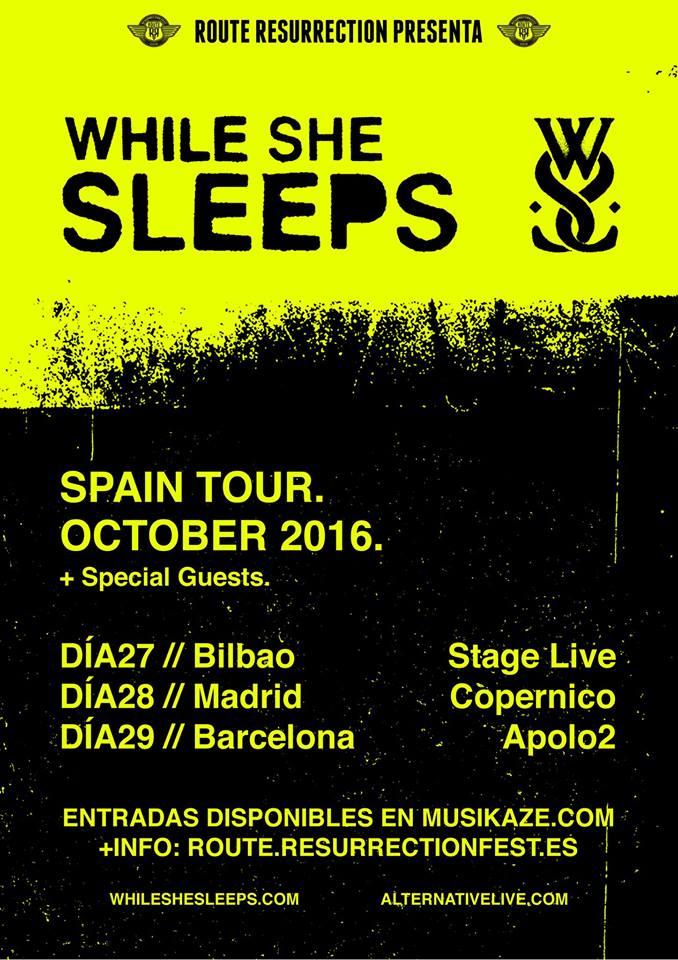 While She Sleeps España 2016