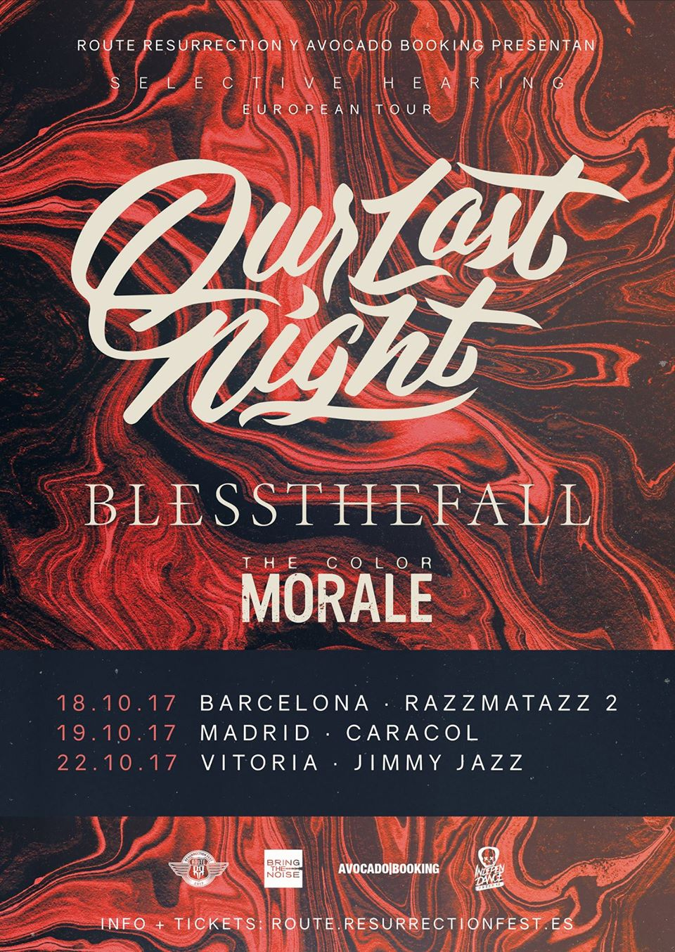 our last night y blessthefall - cambio sala madrid