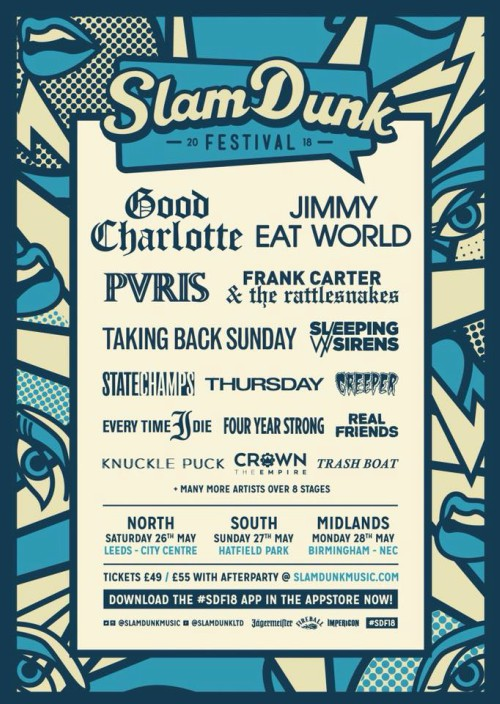 slam dunk 2018 good charlotte