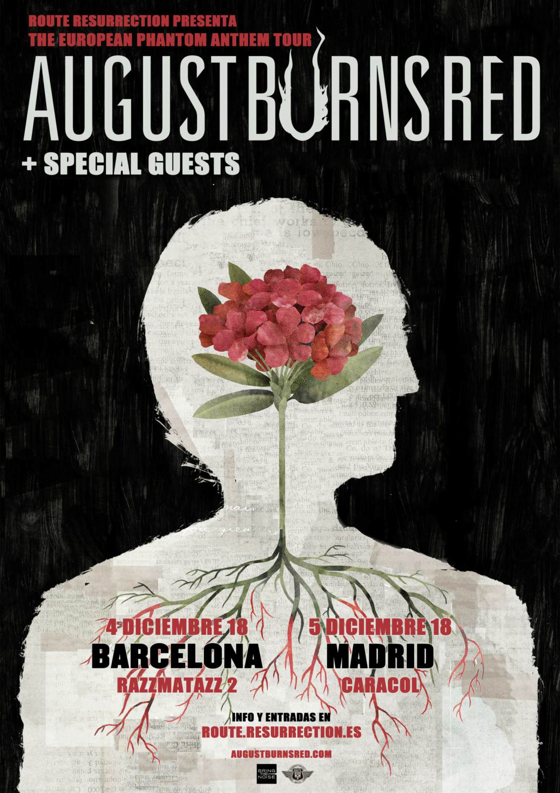 august burns red barcelona madrid diciembre 2018