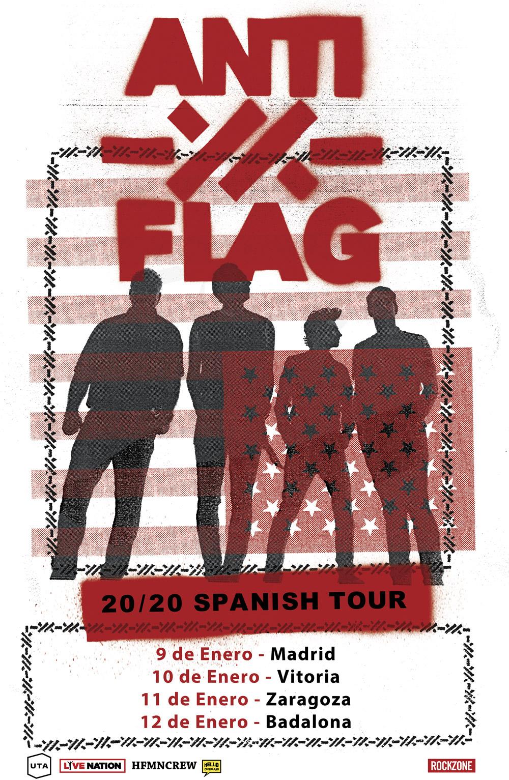 anti-flag: conciertos en españa en enero 2020