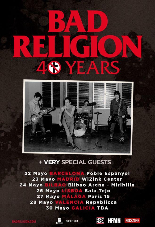 Bad Religion - Gira 40 años en España