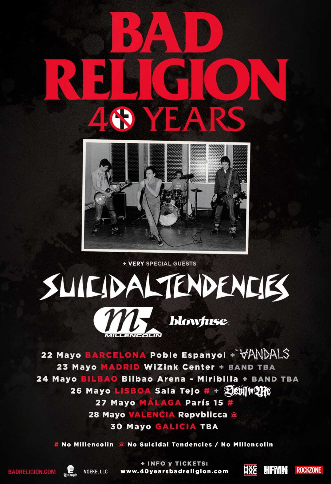 Bad Religion, Suicidal Tendencies y Millencolin en España