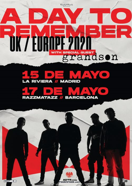 A Day To Remember en Madrid y Barcelona (mayo 2020)