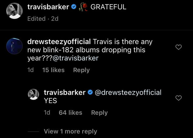 Travis Barker confirma álbum de blink-182 para 2021