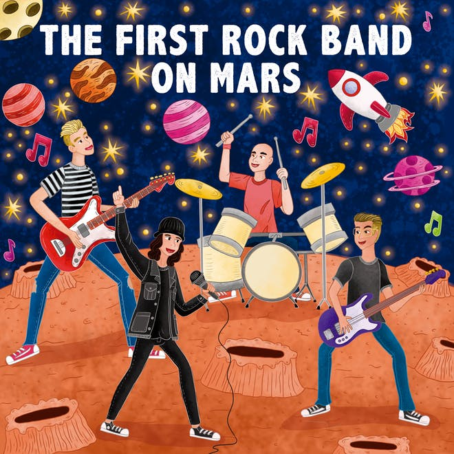 The First Rock Band On Mars: portada del álbum