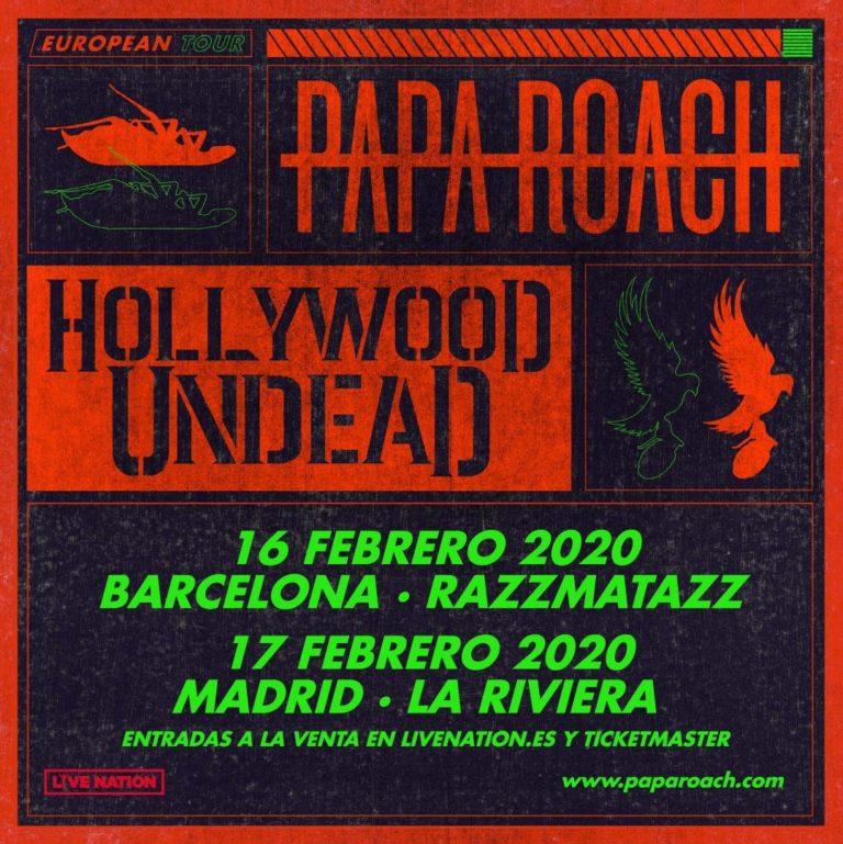 papa roach barcelona madrid febrero 2020