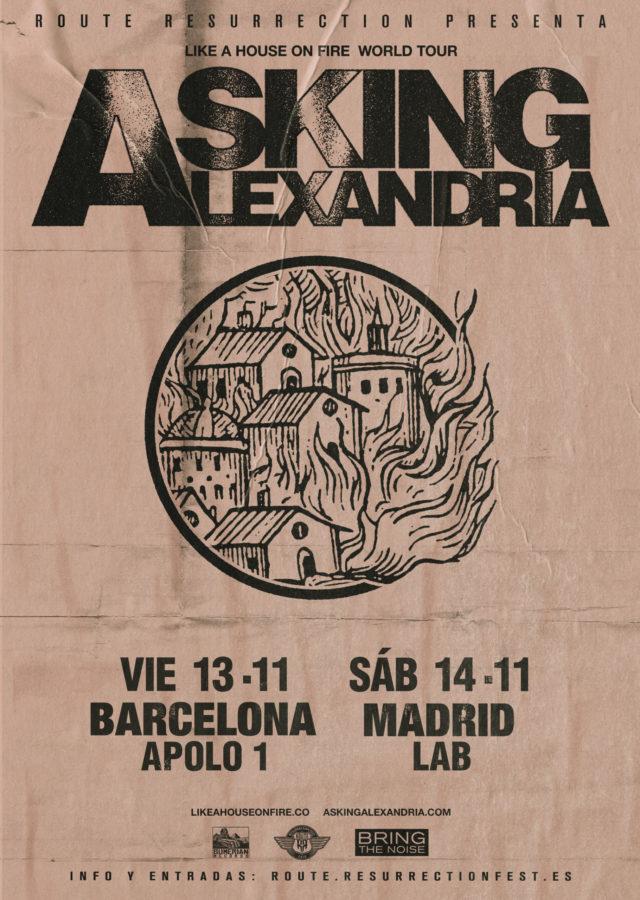 asking alexandria barcelona madrid 2020