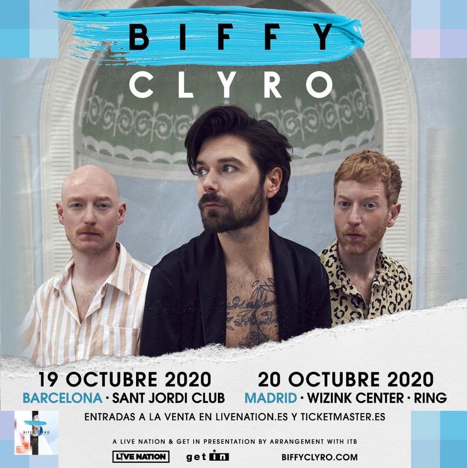 Biffy Clyro en Barcelona y Madrid en octubre 2020