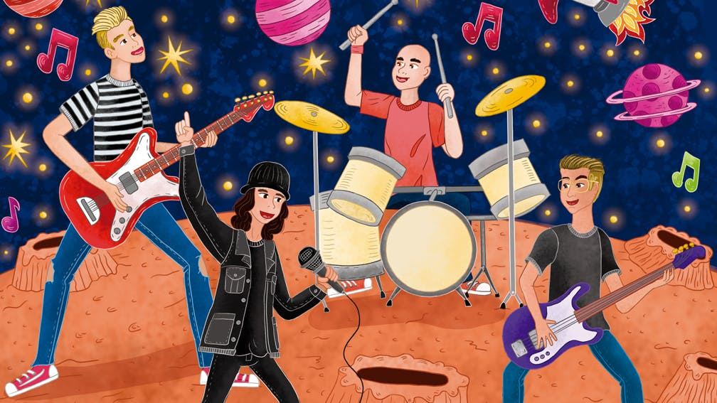 The First Rock Band On Mars